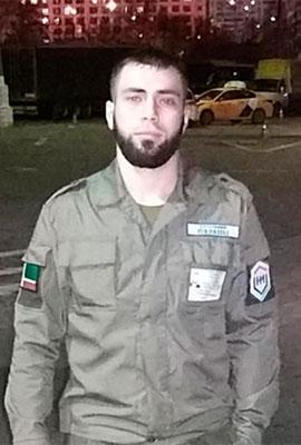 Сотрудник охраны Хажмурзаев С. А.