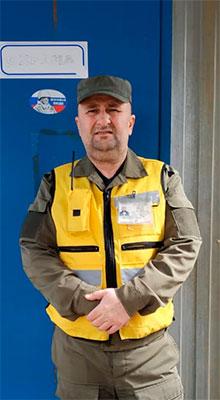 Сотрудник охраны Тепсуев М. И.